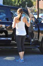 JENNIFER GARNER Leaves a Gym in Los Angeles 11/07/2015