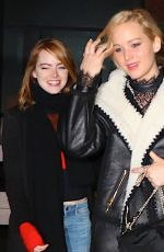 JENNIFER LAWRENCE and EMMA STONE Out for Dinner in New York 11/23/2015