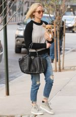 JENNIFER LAWRENCE and Her Dog Pippi Out in New York 11/27/2015