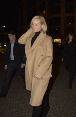 JENNIFER LAWRENCE Arrives at Royal Grill Restaurant in Berlin 11/01/2015