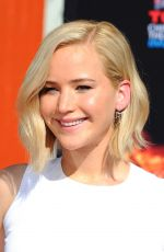 JENNIFER LAWRENCE at The Hunger Games: Mockingjay, Part 2 Handprint Ceremony in Hollywood