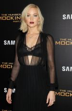 JENNIFER LAWRENCE at The Hunger Games: Mockingjay, Part 2 Premiere in New Yrok 11/18/2015