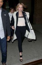 JENNIFER LAWRENCE Heading to Hamilton on Broadway 11/29/2015