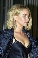 JENNIFER LAWRENCE Leaves Asador Donostiarra in Madrid 11/10/2015
