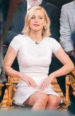 JENNIFER LAWRENCE on the Set of Good Morning America in New York 11/18/2015
