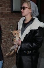 JENNIFER LAWRENCE Out with Her Dog in New York 11/25/2015