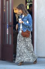 JESSICA ALBA Out for a Morning Coffee in Los Angeles 11/17/2015