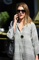 JESSICA ALBA Out for Breakfast in Los Angeles 11/01/2015