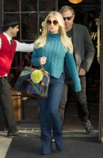 JESSICA SIMPSON Leaves Her Hotel in New York 11/10/2015