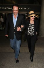 JOAN COLLINS at Los Angeles International Airport 11/05/2015
