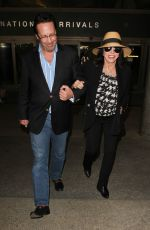 JOAN COLLINS at Los Angeles International Airport 11/05/2015