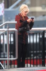JOANNA LUMLEY on the Set of Absolutely Fabulous in London 11/09/2015