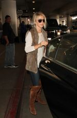 JULIANNE HOUGH at Los Angeles International Airport 10/30/2015