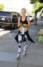 JULIANNE HOUGH in Sports Bra Leaves a Gym in Los Angeles 11/01/2015