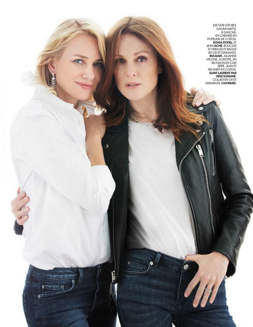 JULIANNE MOORE and NAOMIWATTS in Madame Figaro Magazine, November 2015 Issue