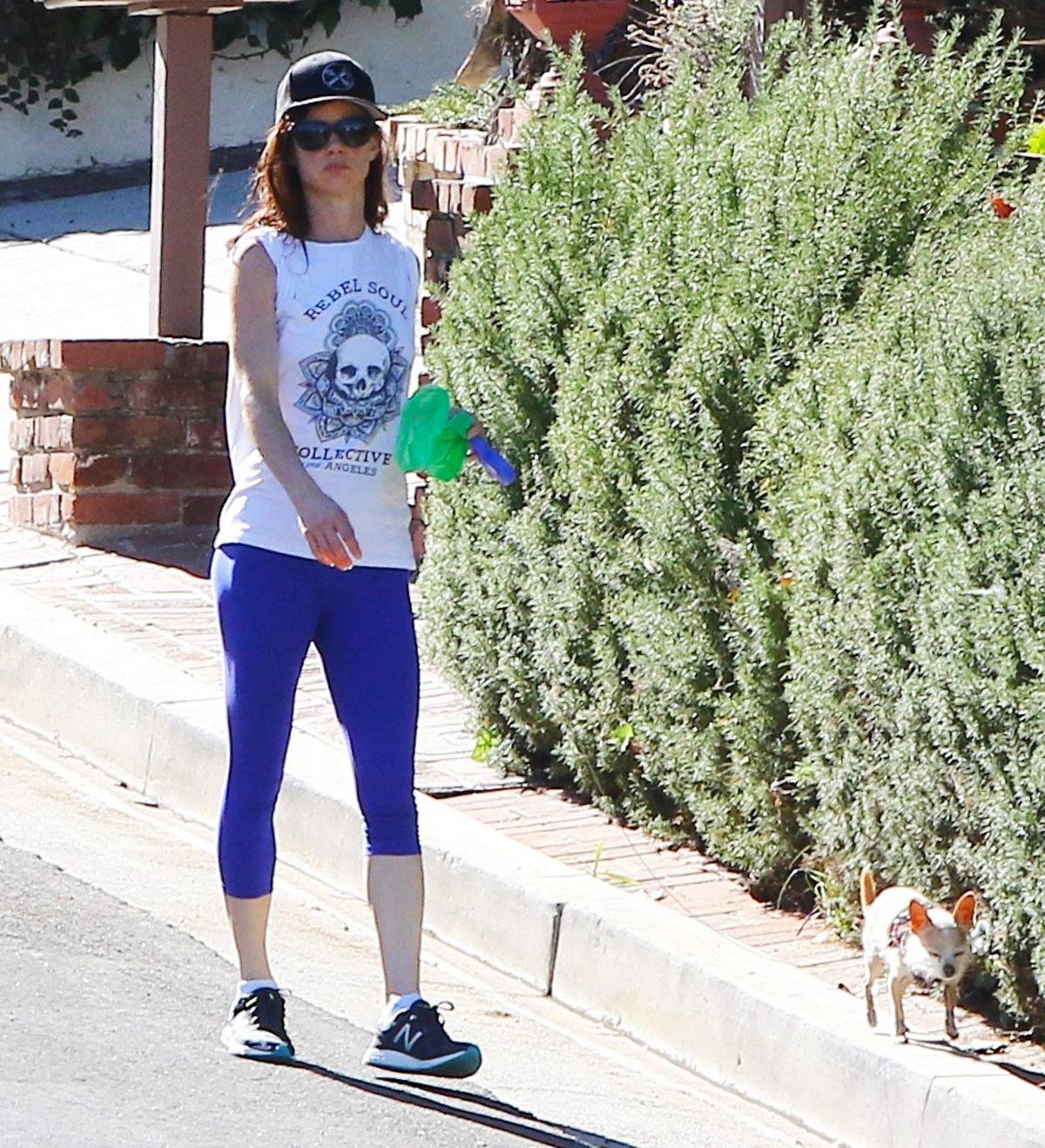 JULIETTE LEWSI Walks Her Doug Out in Los Angeles 11/12/2015