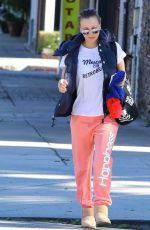 KALEY CUOCO Out for a Walk in Los Angeles 11/16/2015