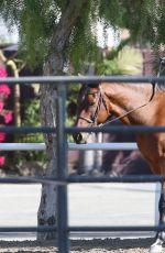 KALEY CUOCO Riding Horse at Flintridge Riding Club in Los Angeles 11/27/2015