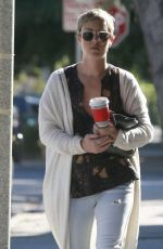 KALEY CUOCO With Short Hair Leaves a Salon in West Hollywood 11/07/2015