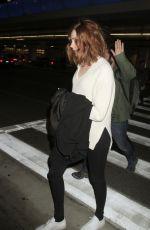 KAREN GILLAN Arrives at LAX Airport in Los Angeles 11/09/2015