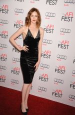KAREN GILLAN at The Big Short Premiere at 2015 AFI Fest in Hollywood 11/12/2015