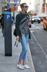 KARLIE KLOSS Out and About in New York 11/04/2015