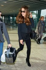 KATE BECKINSALE at Heathrow Airport in London 11/02/2015