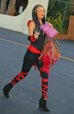 KATE HUDSON Arrives at a Halloween Party in Malibu 10/31/2015