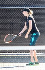 KATE UPTON Playing Tennis at a Court in Beverly Hills 11/20/2015