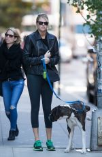 KATE UPTON Walks Her Dog in New York 10/30/2015