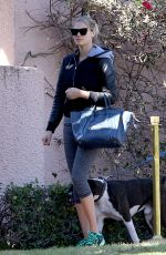 KATE UPTON Walks Her Dog Out in Beverly Hills 11/17/2015