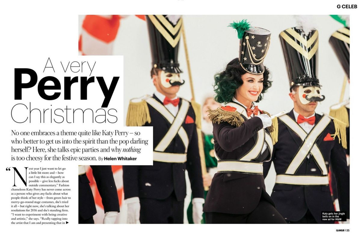 KATY PERRY in Glamour Magazine, UK December 2015 Issue