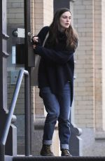 KEIRA KNIGHTLEY Leaves Her Apartment in New York 11/25/2015