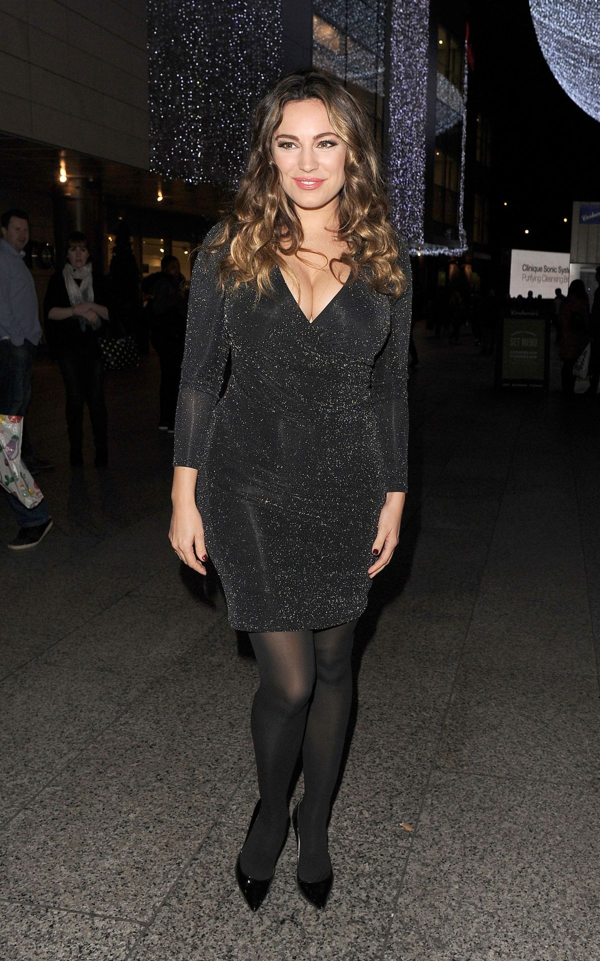 KELLY BROOK at Ping Pong Restaurant Launch & Christmas Party in