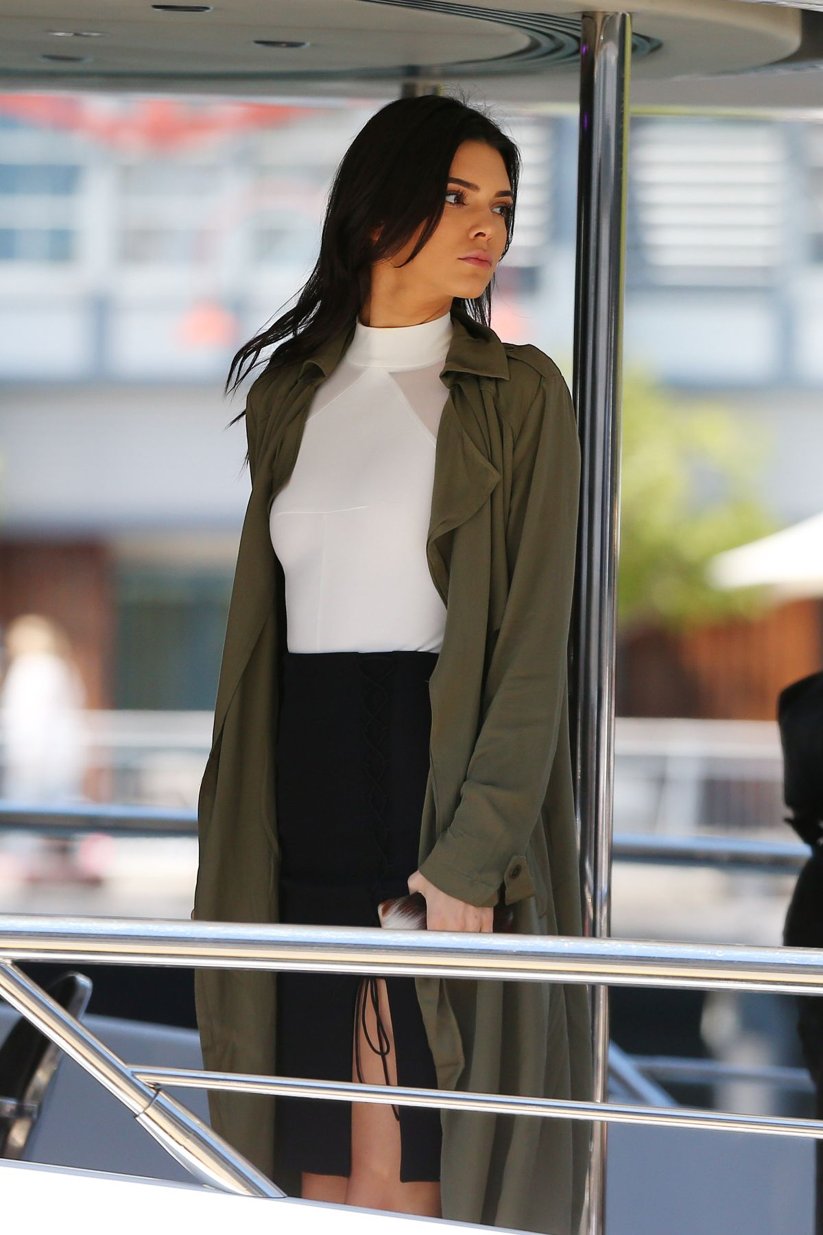 KENDALL JENNER Arrives at a Yacht in Sydney 11/17/2015