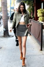 KENDALL JENNER Arrives at Go Greek Yogurt in Beverly Hills 11/20/2015