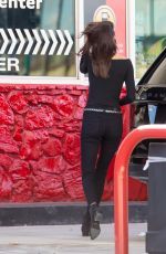 KENDALL JENNER at a Gas Station in Los Angeles 11/25/2015