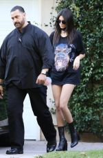KENDALL JENNER Out and About in Woodland Hills 10/30/2015