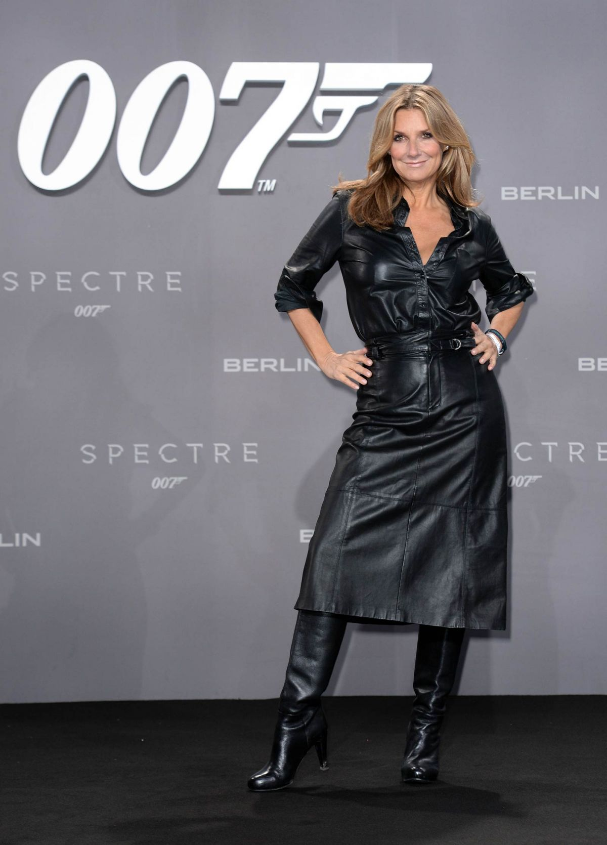 KIM FISHER at Spectre Premiere in Berlin 10/28/2015