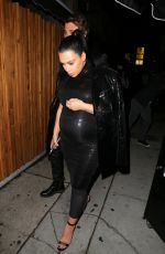 KIM KARDASHIAN Arrives Kendall Jenner's 20th Birthday Party at The Nice Guy in West Hollywood 11/03/2015