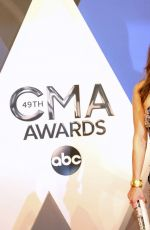 KIMBERLY WILLIAMS-PAISLEY at 49th Annual CMA Awards in Nashville 11/04/2015