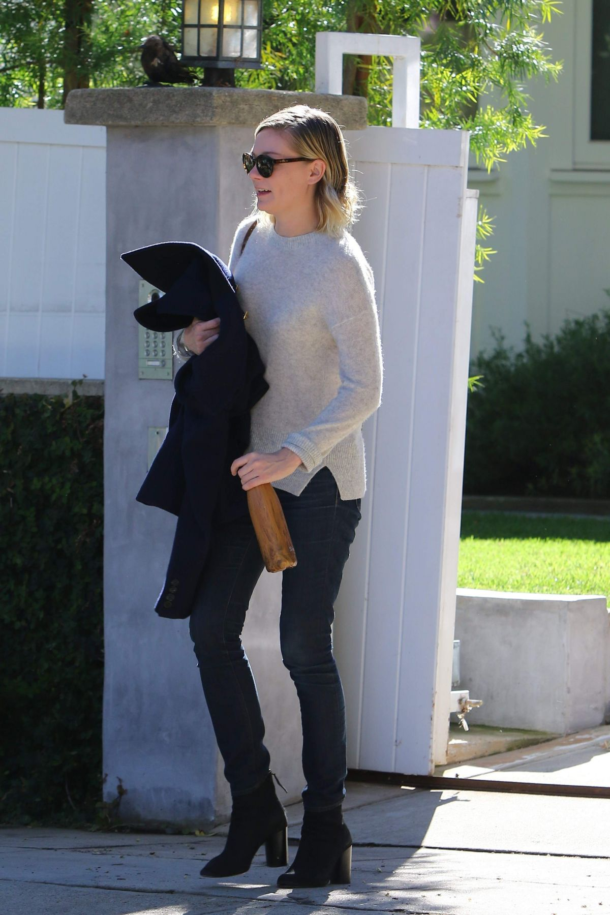 KIRSTEN DUNST Out and About in Beverly Hills 11/19/2015