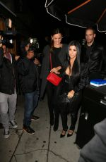 KOURTNEY KARDASHIAN  Arrives at Kendall Jenner's 20th Birthday Party at The Nice Guy in West Hollywood 11/03/2015
