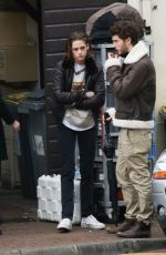 KRISTEN STEWART on the Set of Personal Shopper at a Park in Paris 11/03/2015