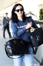 KRYSTEN RITTER at LAX Airport in Los Angeles 11/25/2015