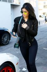 KYLIE JENNER at Cedars-Sinai Hospital in Los Angeles 11/06/2015