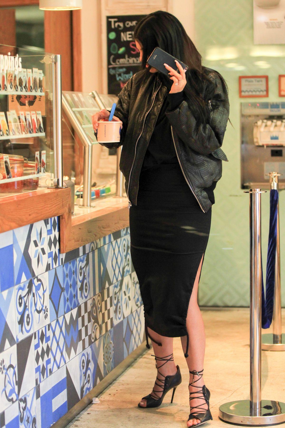 KYLIE JENNER at Yogurt at Go Greek in Beverly Hills 11/05/2015
