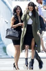 KYLIE JENNER Boarding at a Boat at Harbor in Sydney 11/17/2015