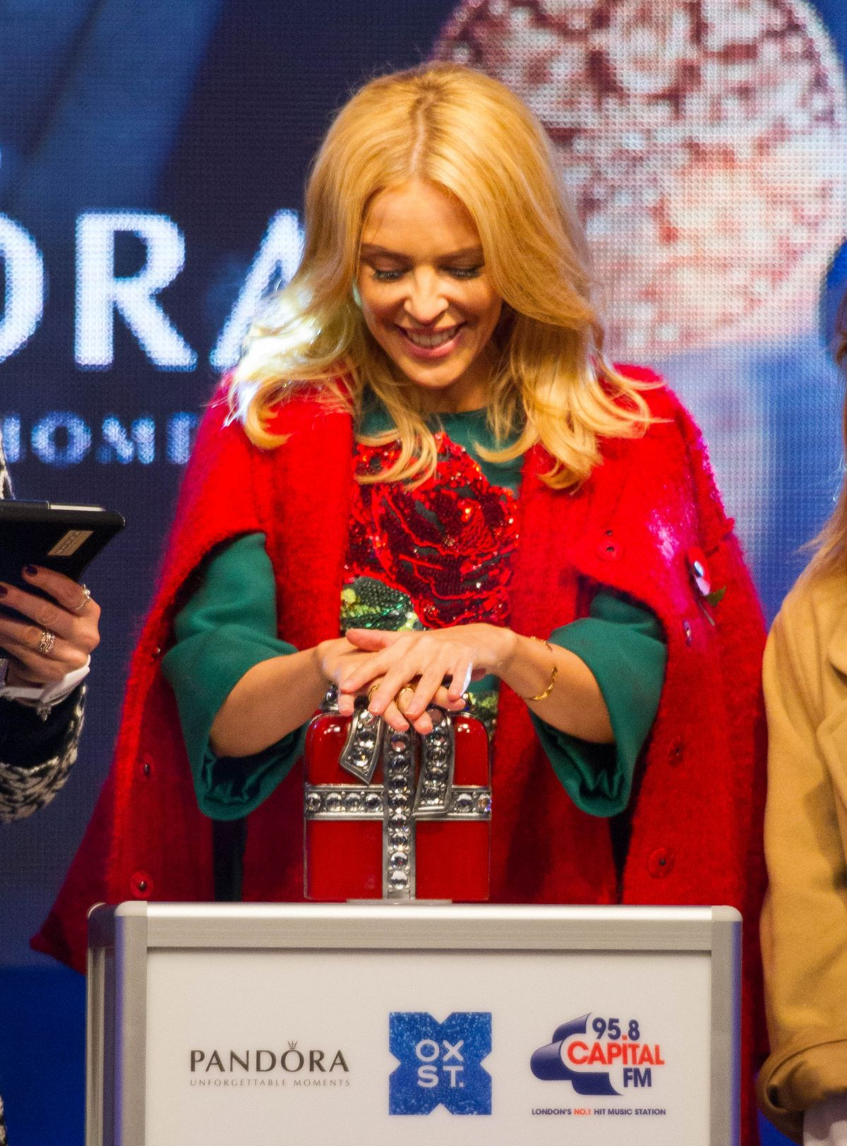 KYLIE MINOGUE at Oxford Street Christmas Lights Switch On Event at ...