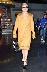 LADY GAGA Arrives at JFK Airport in New York 11/01/2015